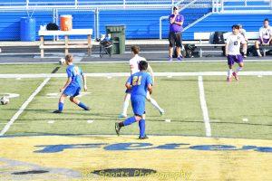Boys soccer vs Fremont Ross ended in a 0-0 tie