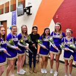 MMS 8th grade cheer vs Bellevue