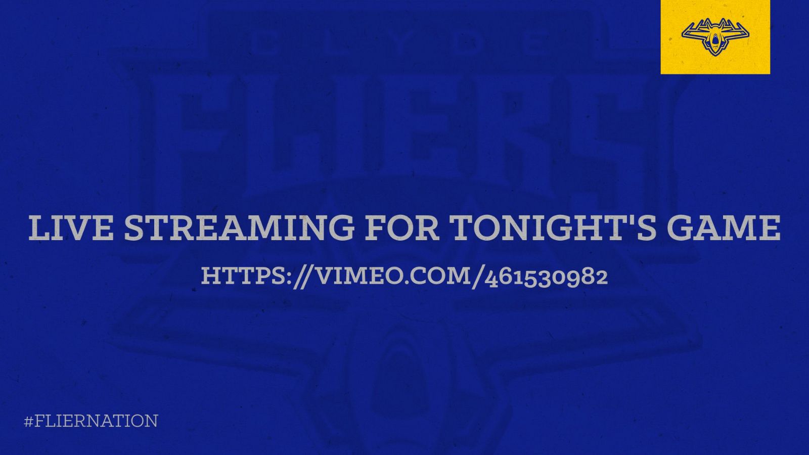 Live stream for tonight's game!