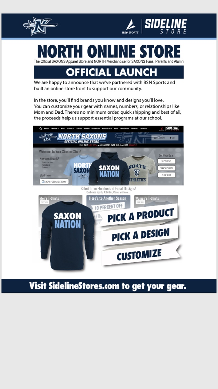 Saxon Athletics NEW online store!