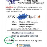 LAST CHANCE to get a SPORT PHYSICAL