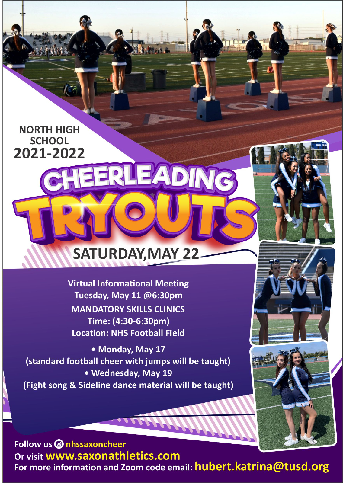 Cheer 2021-2022 Tryouts