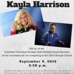 Parade to honor Kayla Harrison, Hall of Fame activities highlight football game Sept. 9