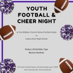 Youth Football & Cheer Night this Friday 9/23 as Middies Host Lakota East