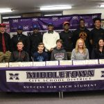 Middletown Schools celebrate the signing of 12 student-athletes
