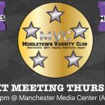 Next Varsity Club Meeting Thurs 3/9 5:30pm @ Manchester Media Center