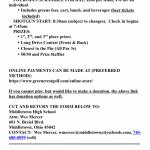 Middies Baseball Hosting Golf Scramble Sun 10/29 @ Green Crest Golf Club