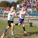Middies' Smith Runs Step for Step with State Champ Horter for Runner Up Finish