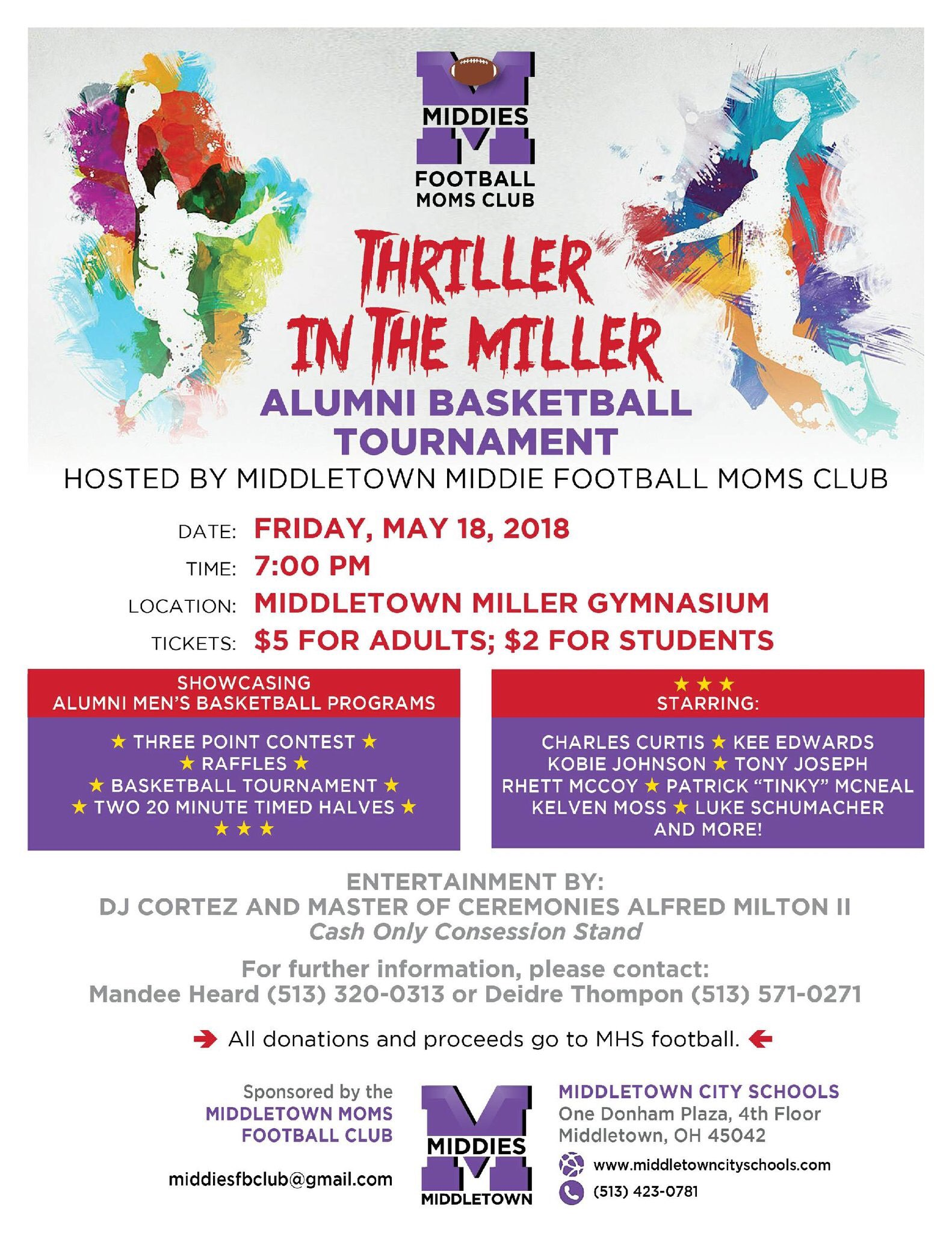 Middie Alumni Basketball Game @ Old Miller Gym Friday May 18th
