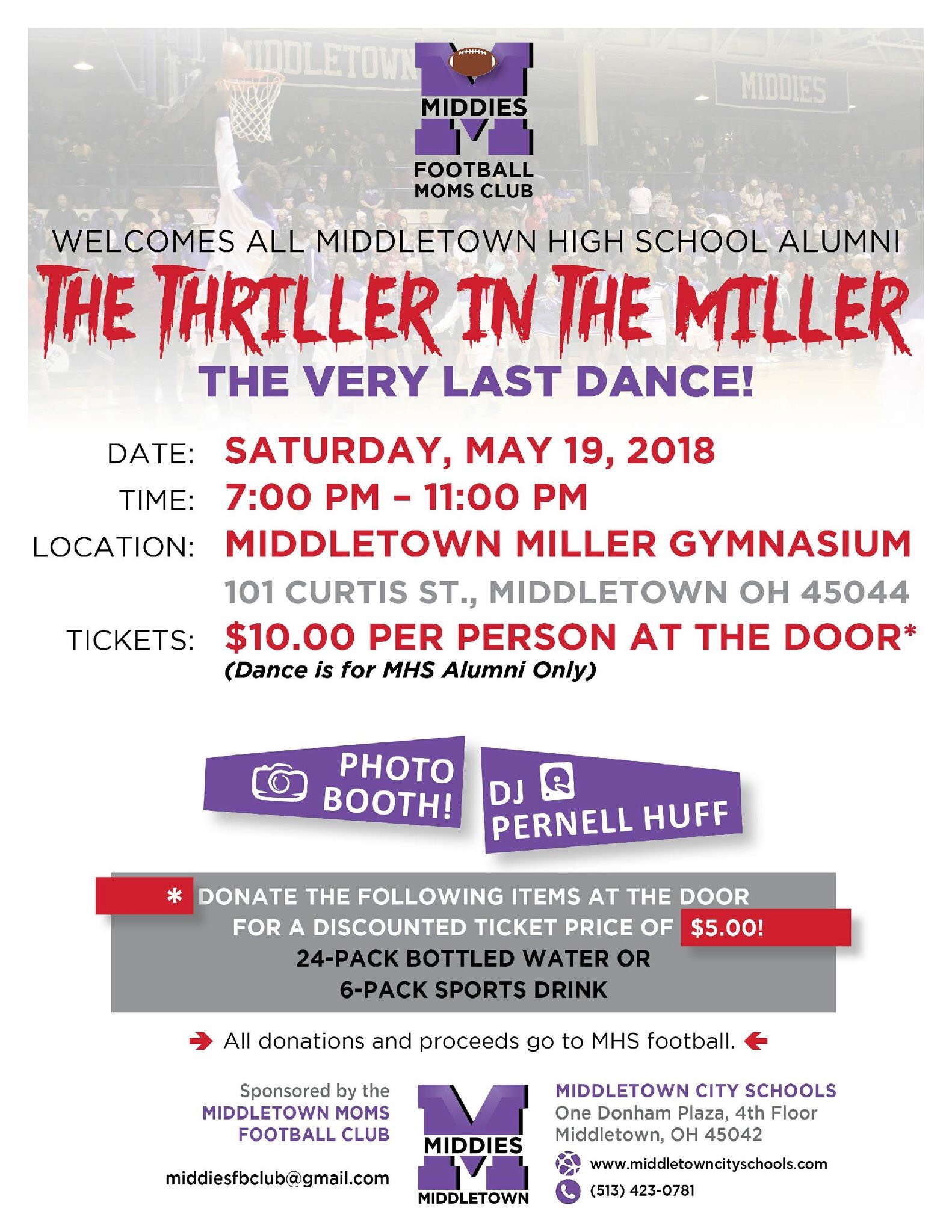 The Last Dance at the Miller Gym Saturday May 19th