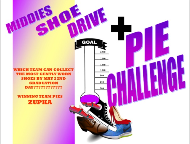 Donate Shoes, Raise Money for Middie Athletics; Team with Most Donated Pies AD!
