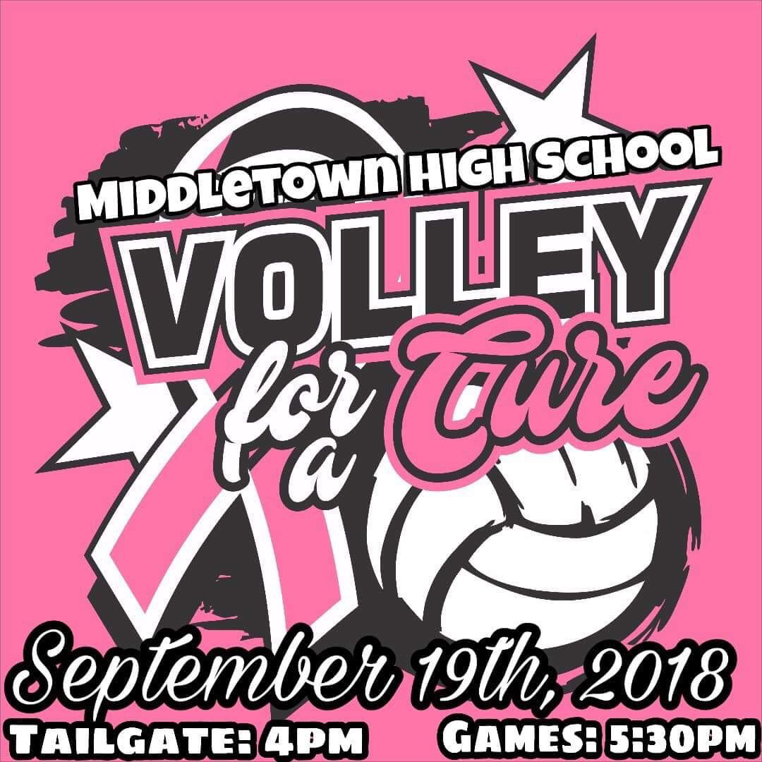 Middies' Volleyball for a Cure Game Wed 9/19 vs. Shroder; Get your VFC Gear Today!