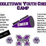 Middies Hosting Youth Cheerleading Camp Sat 4/20 9:00am-2:00pm for Kids Grades K-8th