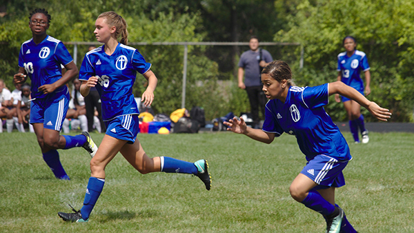 Freshman Ford Scores Four Goals in 9-0 Victory