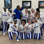 Lady Trojans Win as Hillmon's Number Was Retired