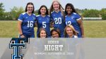 Lady Trojans Tie on Senior Night