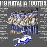 2019 Natalia Mustang Varsity Football Schedule