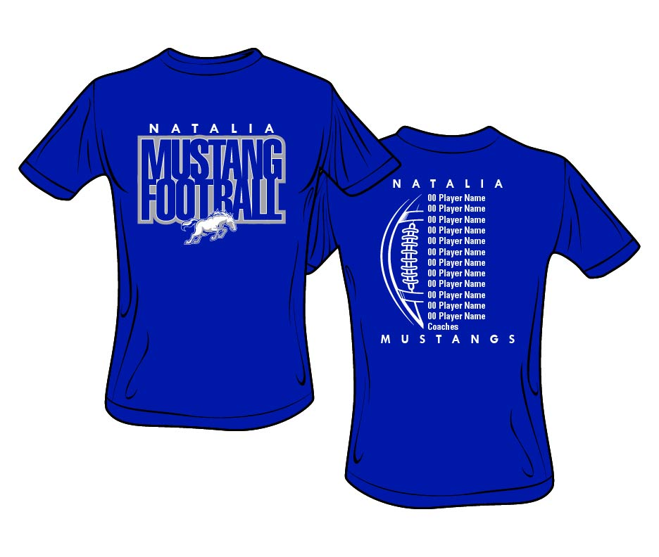 2019 Natalia Mustang Football T-shirt Order Form