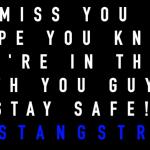 Have a great week, Mustangs!