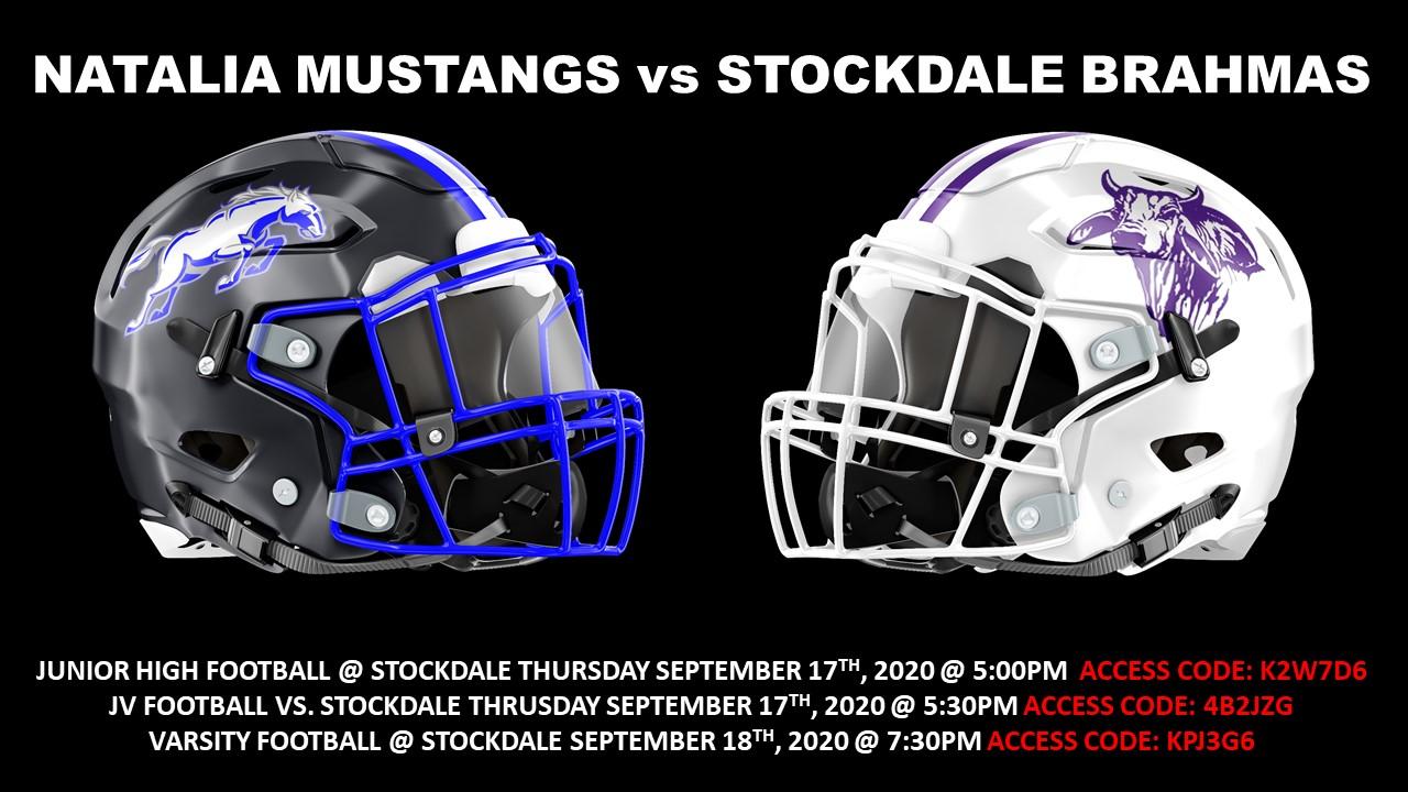 Football Ticket Information: Week of Sept. 14, 2020-Stockdale Week