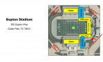 Gupton Stadium Map and Information-Area Playoff Game 11/20/20
