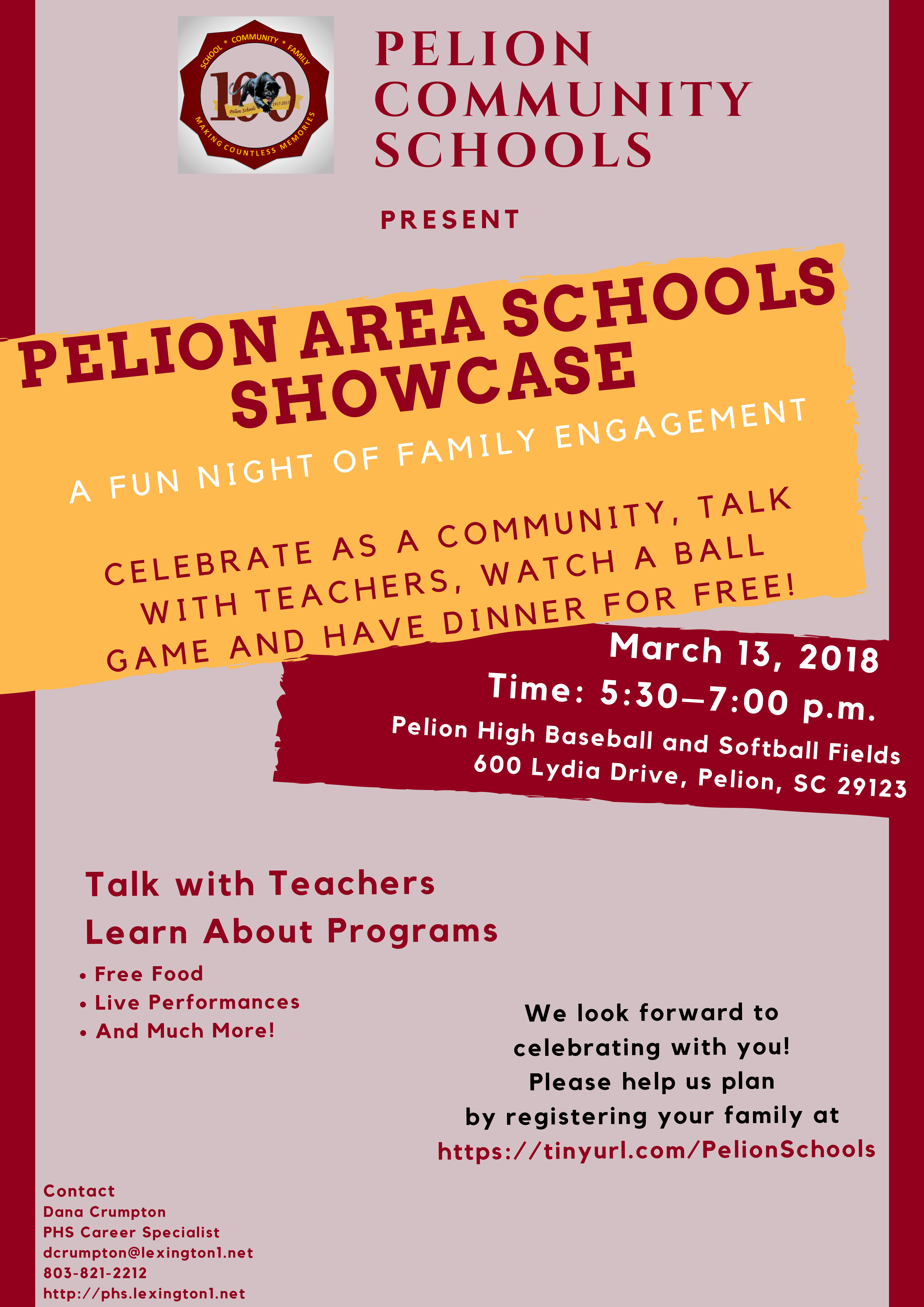 Pelion Area Schools Showcase – March 13th – Sign Up Here