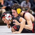 Wrestling Splits Dual Meets