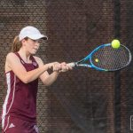 Sophomore, Rebekka Braziel plays in Girls Tennis Singles State Championship