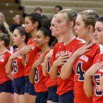 Lugoff-Elgin High School Girls Varsity Volleyball beat St. James High School 3-1