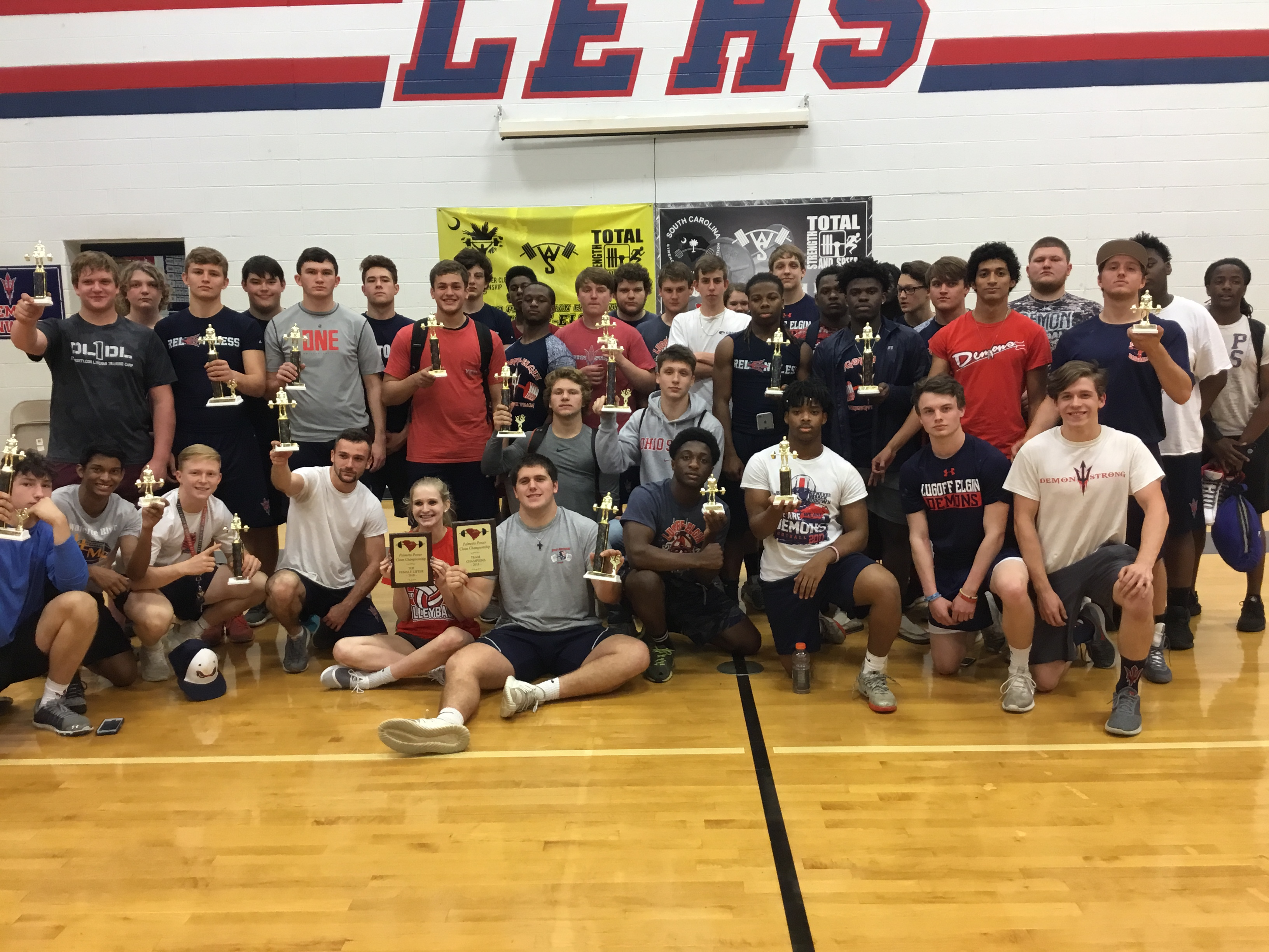 Lugoff-Elgin wins Palmetto Power Clean for the 3rd Straight Year.