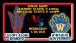 Senior Night for Demon Wrestling 1/20/2021