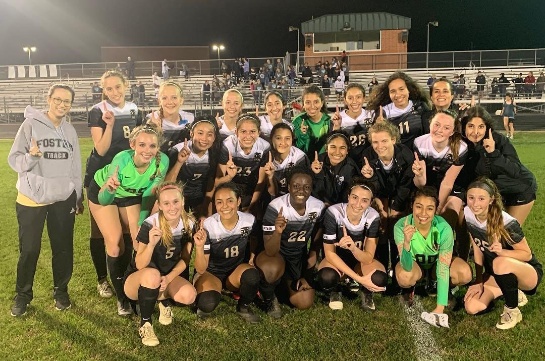 Lady Falcons Soccer District Champs in Win vs. Manvel