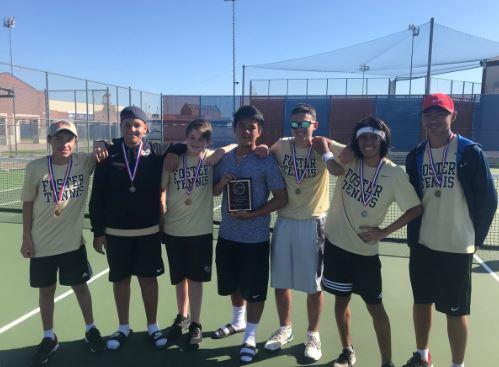 Freshman Boys Tennis District Champions!