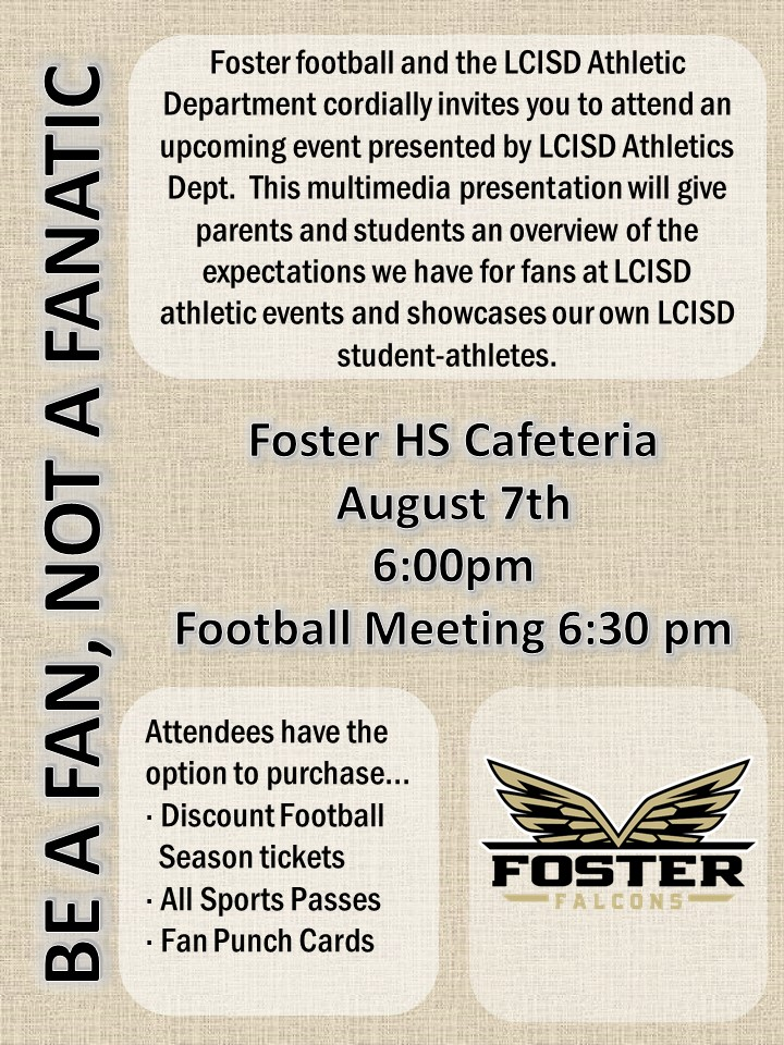 Lcisd Calendar 2020 Foster   Team Home Foster Falcons Sports