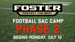 Phase 2 of Football SAC Camp starts Monday, July 13th!