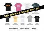 Game Day Shirt sale has been extended through tomorrow!