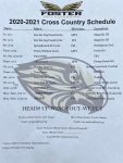 2020-2021 Foster Falcons Cross Country Schedule updated