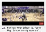 Foster Volleyball games streamed on You Tube