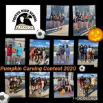 Foster Women's Soccer Team Pumpkin Carving Contest 2020