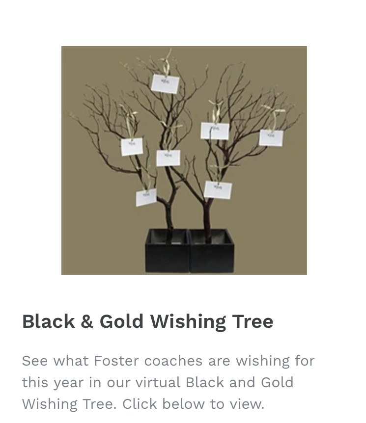 Black & Gold Wishing Trees for All Sports!