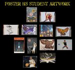 Foster HS Art Students donate artwork to the 2021 Black & Gold Bash