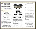 2021 Foster Girls SAC Camp
