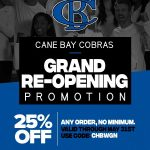 Cobra Sideline Store Grand Opening Promotion