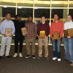 Football Award Winners At Fall Banquet
