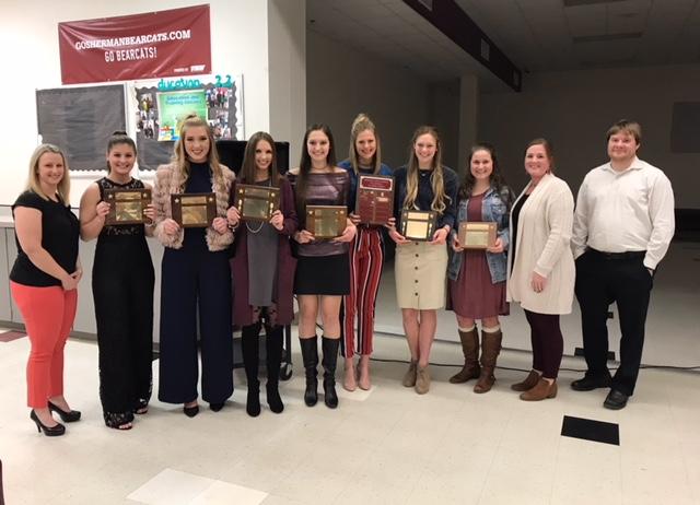 Sherman Lady Cat Volleyball Award Winners