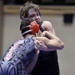 North Wrestling Embracing Target on its back