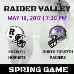 Football Spring Game Thursday vs. Roswell