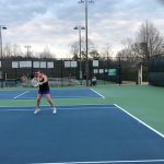Tennis: North Girls Battle in Monday's Rain-Shortened Match