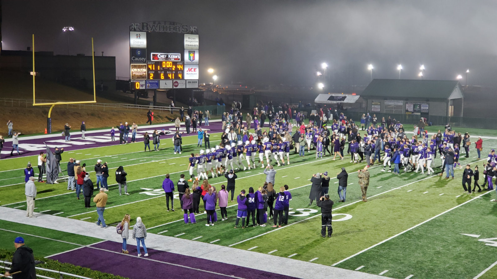 Football: Raiders pull off miracle comeback, edge Brookwood 44-41