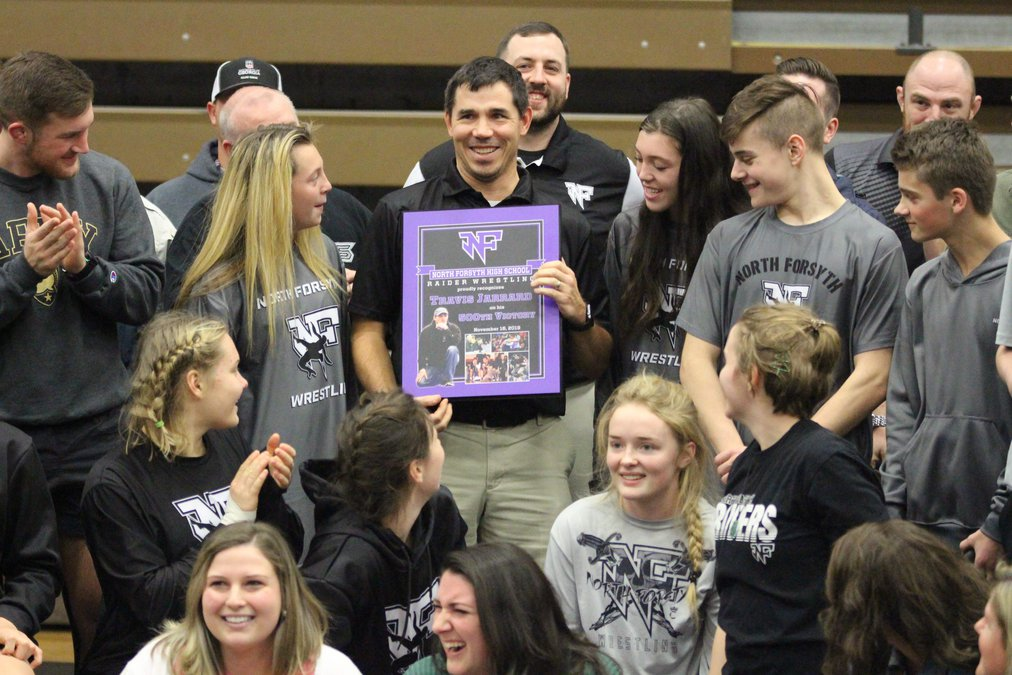 Wrestling: Jarrard honored for 500th win
